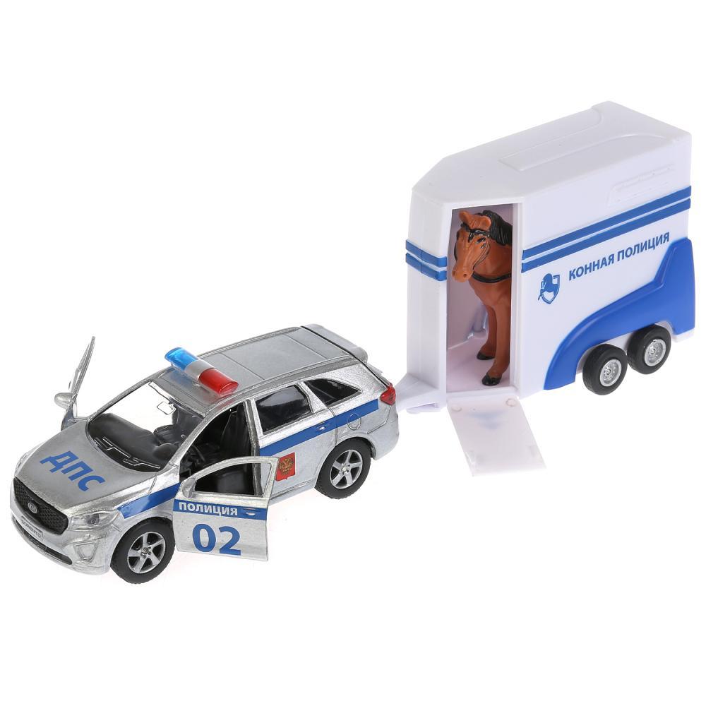 Купить Набор Kia Sorento Prime, 12 см, инерционный и фургон с лошадью, Технопарк
