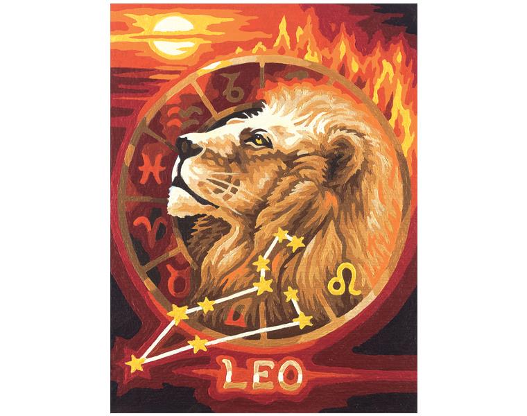 Набор для раскрашивания по номерам «Знаки Зодиака - Лев», 18 х 24 см.Раскраски по номерам Schipper<br>Набор для раскрашивания по номерам «Знаки Зодиака - Лев», 18 х 24 см.<br>
