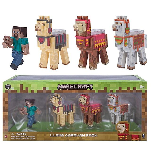 Набор фигурок из серии Minecraft - Steve with Llama caravan, 8 см. по цене 3 390