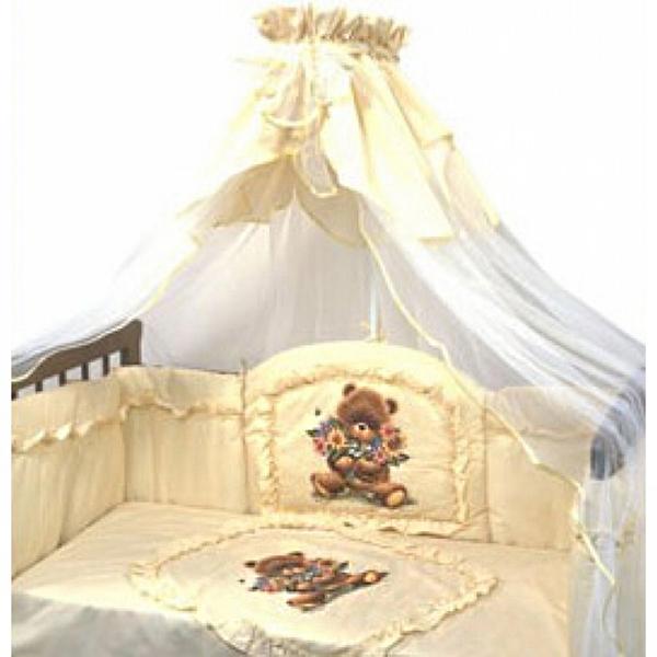 Постельное белье Аленка, 3 предмета, цвет – бежевыйДетское постельное белье<br>Постельное белье Аленка, 3 предмета, цвет – бежевый<br>