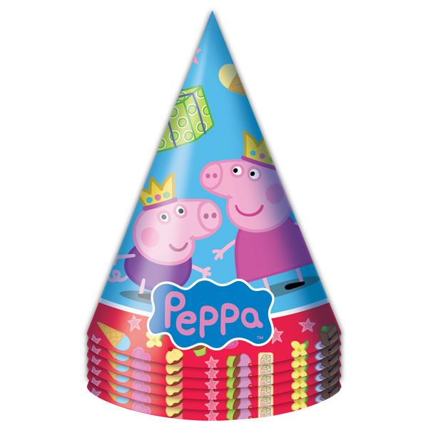 Набор колпачков 6 шт. «Пеппа Принцеса»Свинка Пеппа (Peppa Pig )<br>Набор колпачков 6 шт. «Пеппа Принцеса»<br>