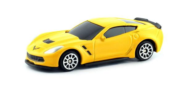 Купить Металлическая машина - Chevrolet Corvette, 1:64, матовый желтый, RMZ City