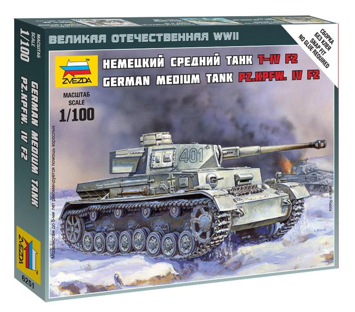 Модель сборная - Немецкий танк Т-4 F2Модели танков для склеивания<br>Модель сборная - Немецкий танк Т-4 F2<br>