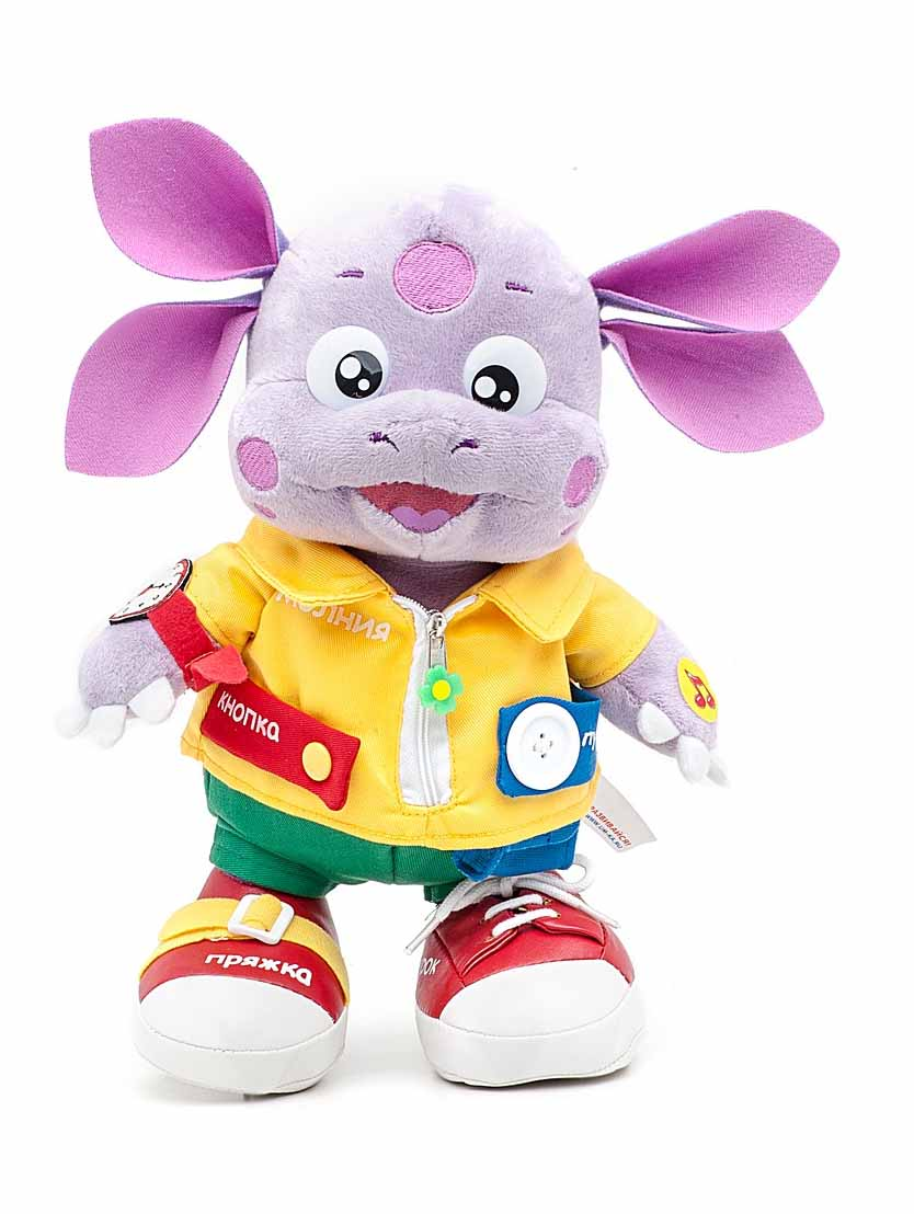 Озвученная мягкая игрушка - Лунтик, учит одеватьсяГоворящие игрушки<br>Озвученная мягкая игрушка - Лунтик, учит одеваться<br>