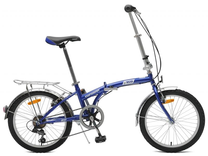 Купить Велосипед складной – Топ Гир Eco, 20 , 6 скоростей, V-тип, синий, Topgear