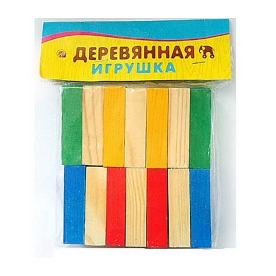 Набор деревянный развивающий - 14 брусковРазное<br>Набор деревянный развивающий - 14 брусков<br>