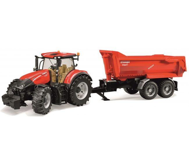Купить Трактор Bruder Case IH Optum 300 CVX с прицепом Krampe Tandem-Halfpipe
