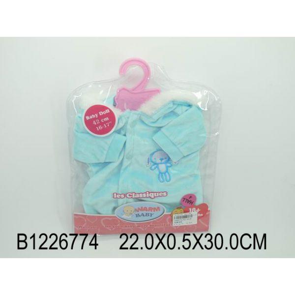 Комплект одежды для куклы, куртка с капюшоном, голубаяОдежда для кукол<br>Комплект одежды для куклы, куртка с капюшоном, голубая<br>