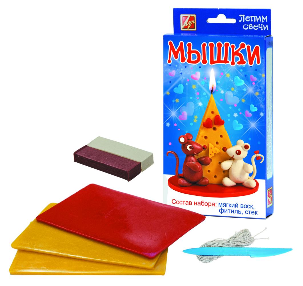 Набор - Лепим свечи - МышкиСоздание гелевых свечей<br>Набор - Лепим свечи - Мышки<br>