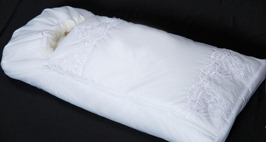 Купить Конверт-одеяло на выписку М-2053, белый, Мой Ангелок