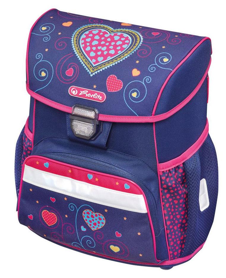 Ранец Loop Empty Blue Hearts, без наполненияШкольные рюкзаки<br>Ранец Loop Empty Blue Hearts, без наполнения<br>