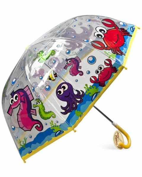 Зонт детский - Подводный мир, 46 см.Детские зонты<br>Зонт детский - Подводный мир, 46 см.<br>