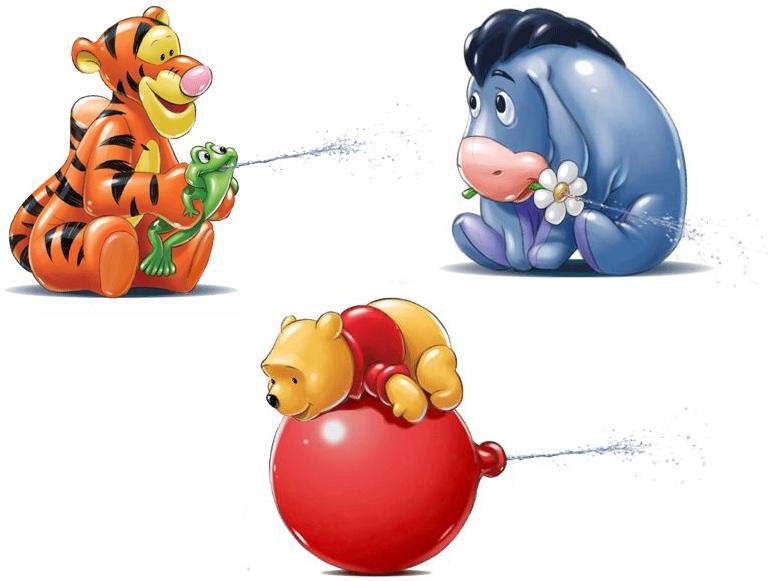 Брызгалки для ванны: Винни, Тигра, Ослик ИаИгрушки для ванной<br>Брызгалки для ванны: Винни, Тигра, Ослик Иа<br>