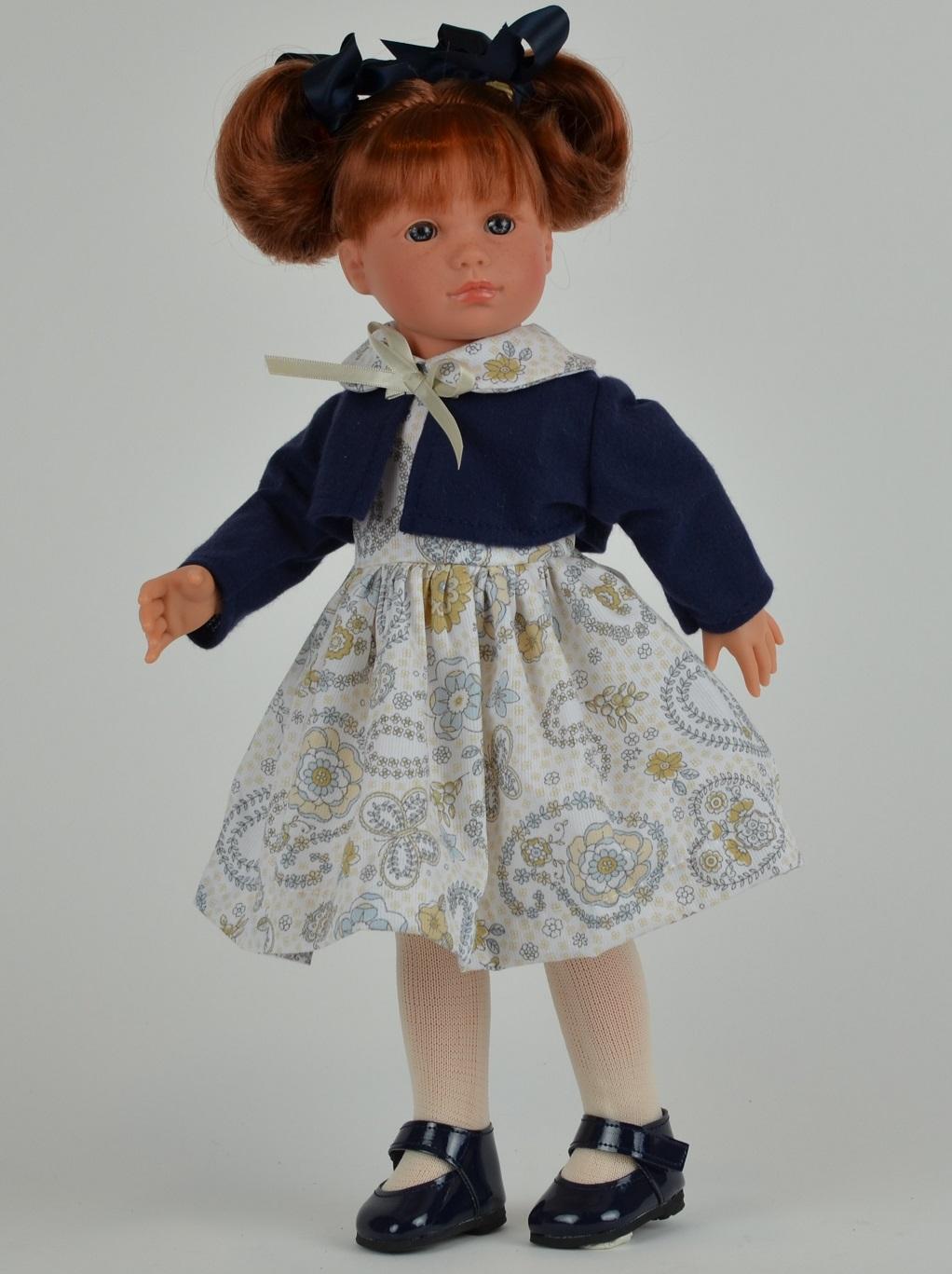 Кукла Нелли в синем болеро, 43 см.Куклы ASI (Испания)<br>Кукла Нелли в синем болеро, 43 см.<br>