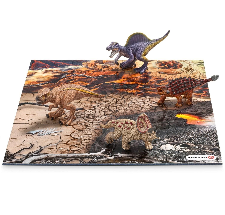 Купить Игровой набор мини-динозавры и пазл Исследование, Schleich