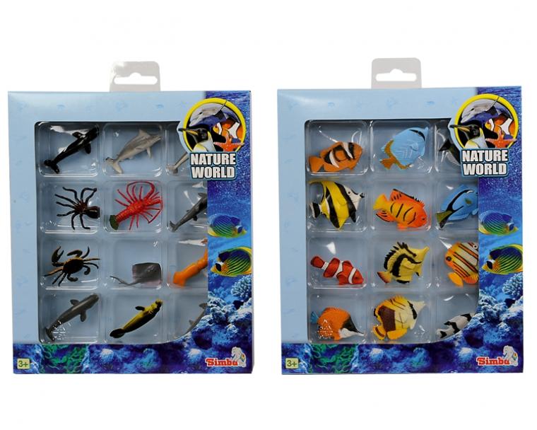 Набор из 12 морских животных, 2 видаМорской мир (Sea life)<br>Набор из 12 морских животных, 2 вида<br>