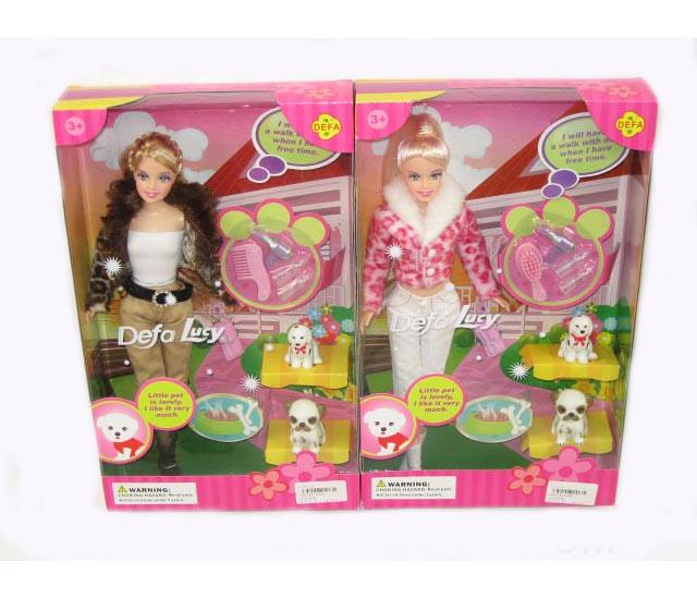 Купить Кукла Defa с собачкой и аксессуарами, 28 см, Defa Lucy