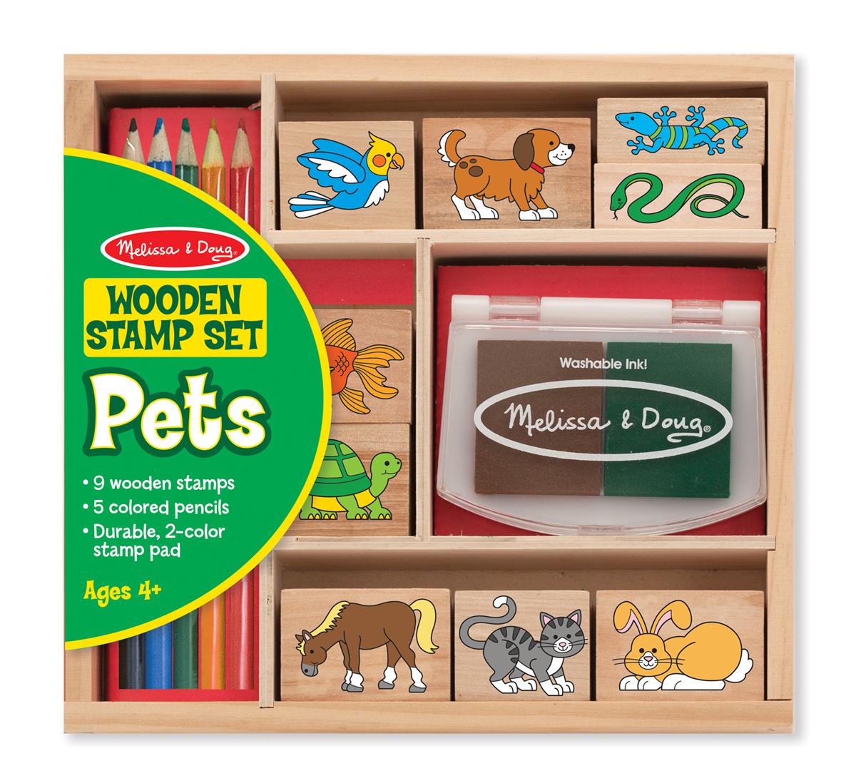 Купить Набор печатей - Животные из серии Творчество, Melissa&Doug