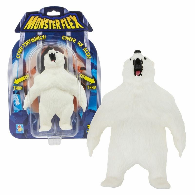 Купить Тянущаяся фигурка Monster Flex – Полярный Медведь, 15 см, 1TOY