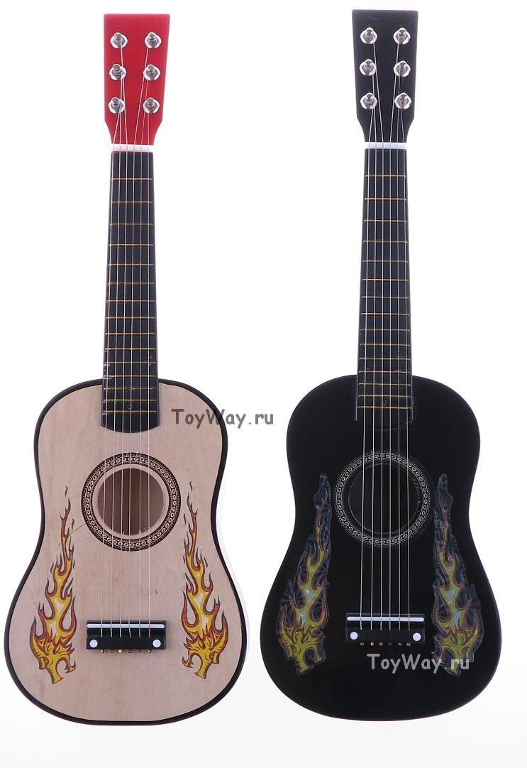 Гитара деревянная, 60 см., 6 струн, арт. 437A3 - Гитары, артикул: 11529