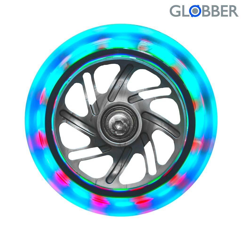 Колеса передние светящиеся Globber 120 мм., комплект - 2 шт.