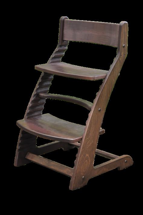 Купить Растущий стул Praktikk, цвет - Тёмный орех, Wood lines