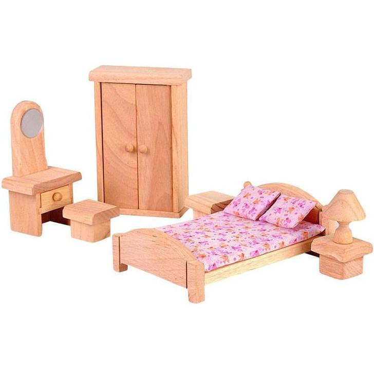 Купить Набор мебели для кукольного домика - Спальня Классик, Plan Toys