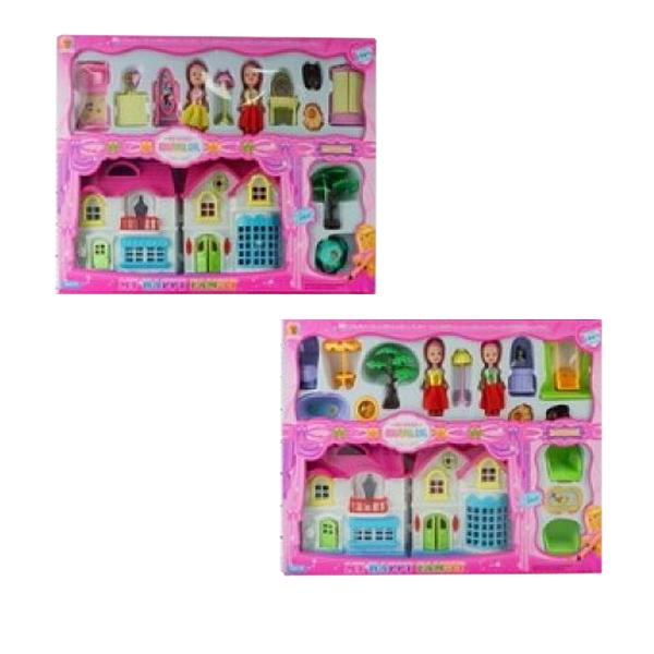 Дом для кукол, с мебелью и фигуркамиКукольные домики<br>Дом для кукол, с мебелью и фигурками<br>