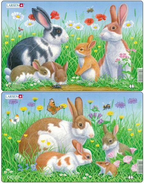 Купить со скидкой Пазл – Кролики, 2 вида