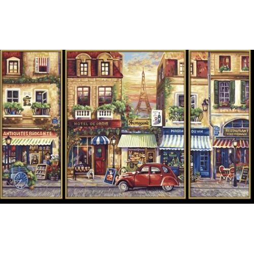 Детский набор для творчества - Триптих Париж, 50х80 смРаскраски по номерам Schipper<br>Детский набор для творчества - Триптих Париж, 50х80 см<br>