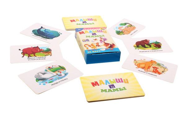 Купить Игра карточная, обучающая - Малыши и Мамы, Рыжий Кот
