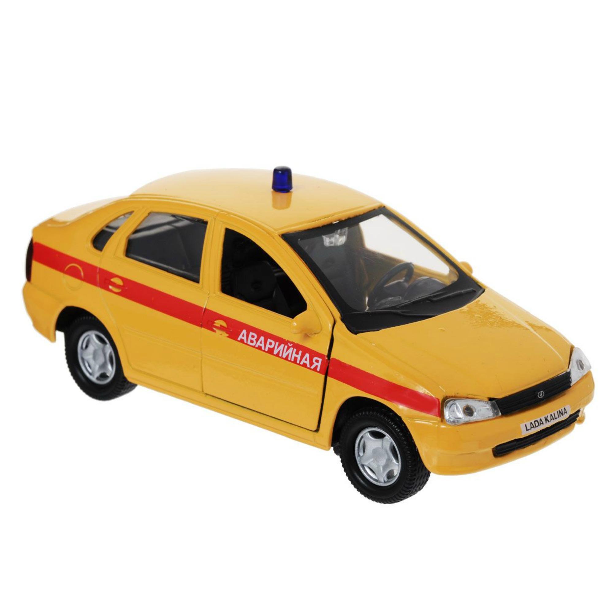 Машинка металлическая Lada Kalina, аварийная 1:34LADA<br>Машинка металлическая Lada Kalina, аварийная 1:34<br>
