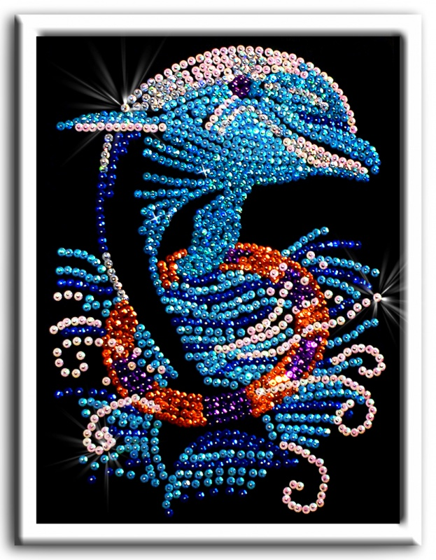 Мозаика из пайеток Дельфин по цене 501
