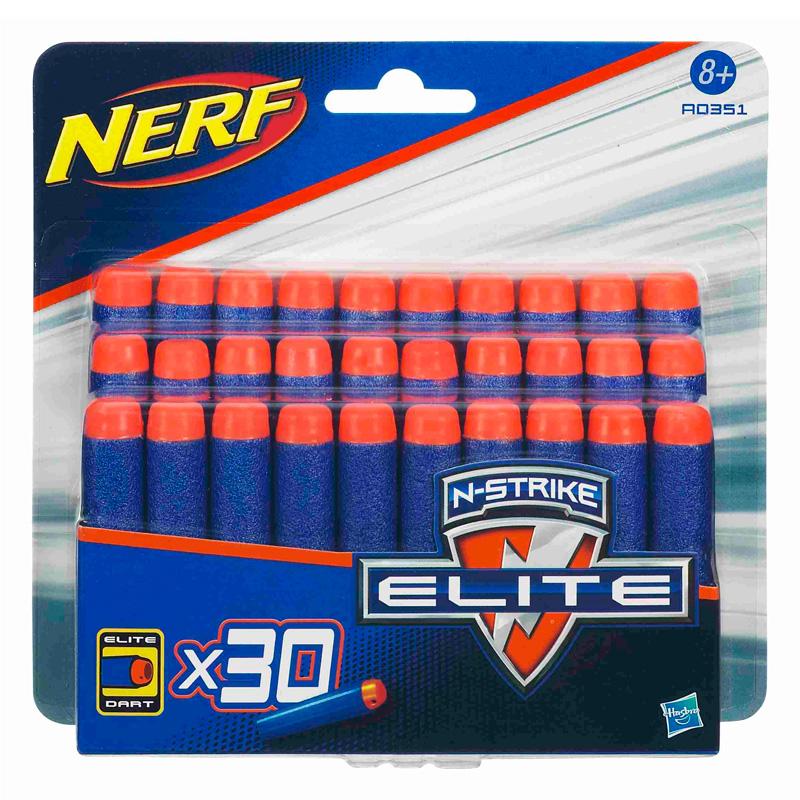 Стрелы для бластеров Nerf, 30 штукБластеры NERF Hasbro<br>Стрелы для бластеров Nerf, 30 штук<br>