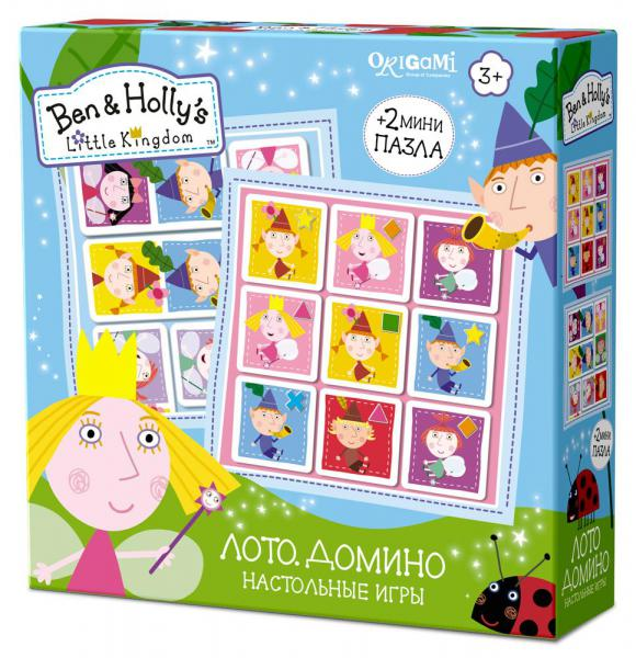 Купить Игра настольная из серии Ben & Holly 2 в 1 – Лото и домино, Origami