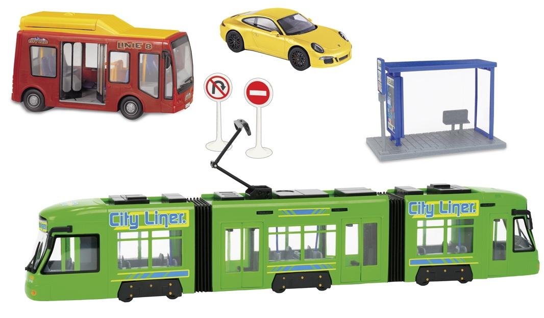 City: трамвай, автобус и машинаАвтобусы, трамваи<br>City: трамвай, автобус и машина<br>