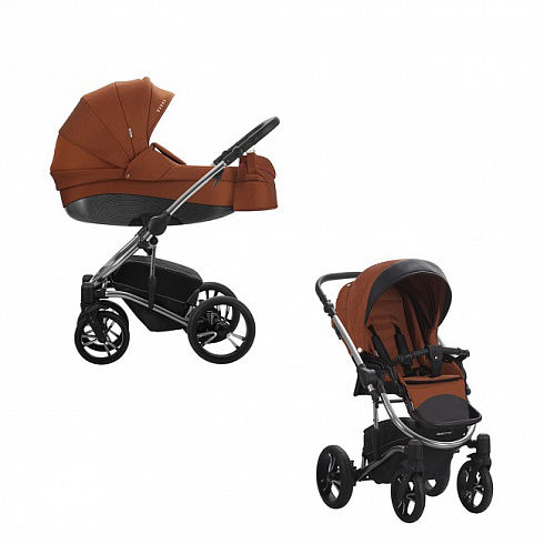 Детская коляска Tito Premium class 2 в 1, шасси хромированная 05Детские коляски 2 в 1<br>Детская коляска Tito Premium class 2 в 1, шасси хромированная 05<br>