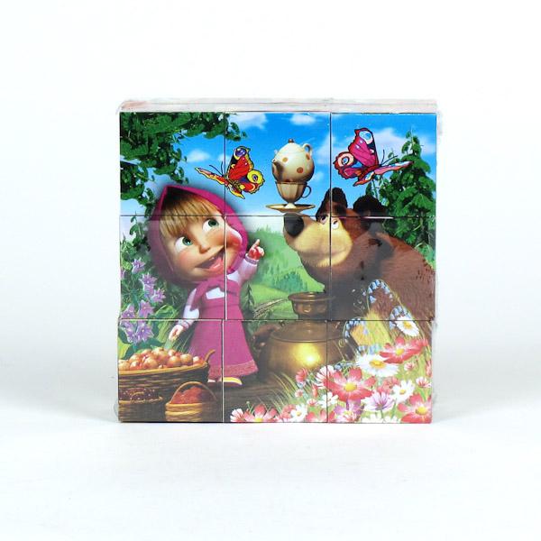 Купить Набор из 9 кубиков серии Маша и медведь, Играем вместе