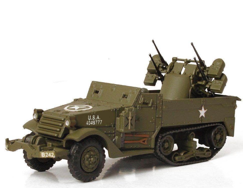 Коллекционная модель - M16 САУ, Нормандия, 1944, США, 1:72Военная техника<br>Коллекционная модель - M16 САУ, Нормандия, 1944, США, 1:72<br>