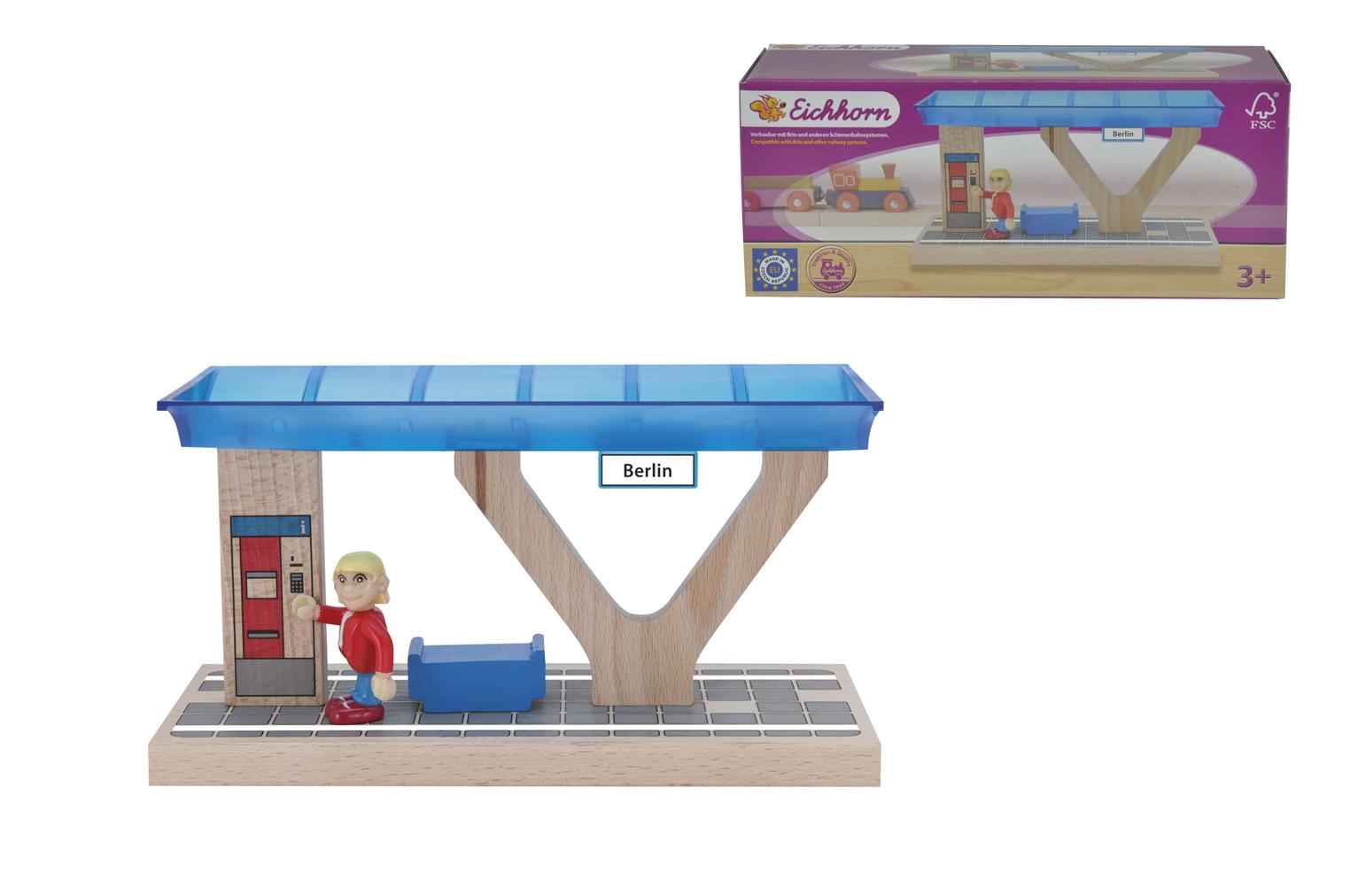 Игровой набор с фигуркой - Железнодорожная платформаДетская железная дорога<br>Игровой набор с фигуркой - Железнодорожная платформа<br>