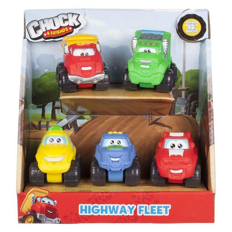 Набор машинок Chuck &amp; Friends - АвтомагистральМашинки для малышей<br>Набор машинок Chuck &amp; Friends - Автомагистраль<br>