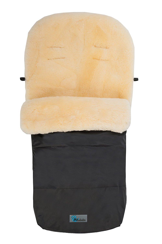Зимний конверт Lambskin-Footmuff, цвет - Black 65Аксессуары к коляскам<br>Зимний конверт Lambskin-Footmuff, цвет - Black 65<br>