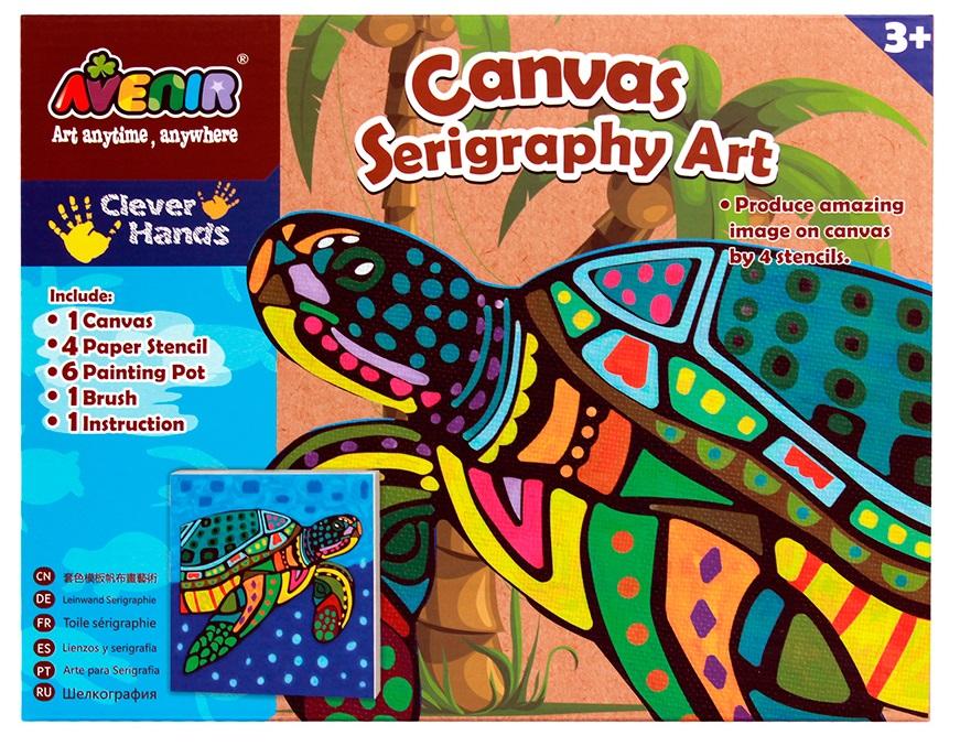 Большой набор для шелкографии - ЧерепахаРоспись по ткани<br>Большой набор для шелкографии - Черепаха<br>
