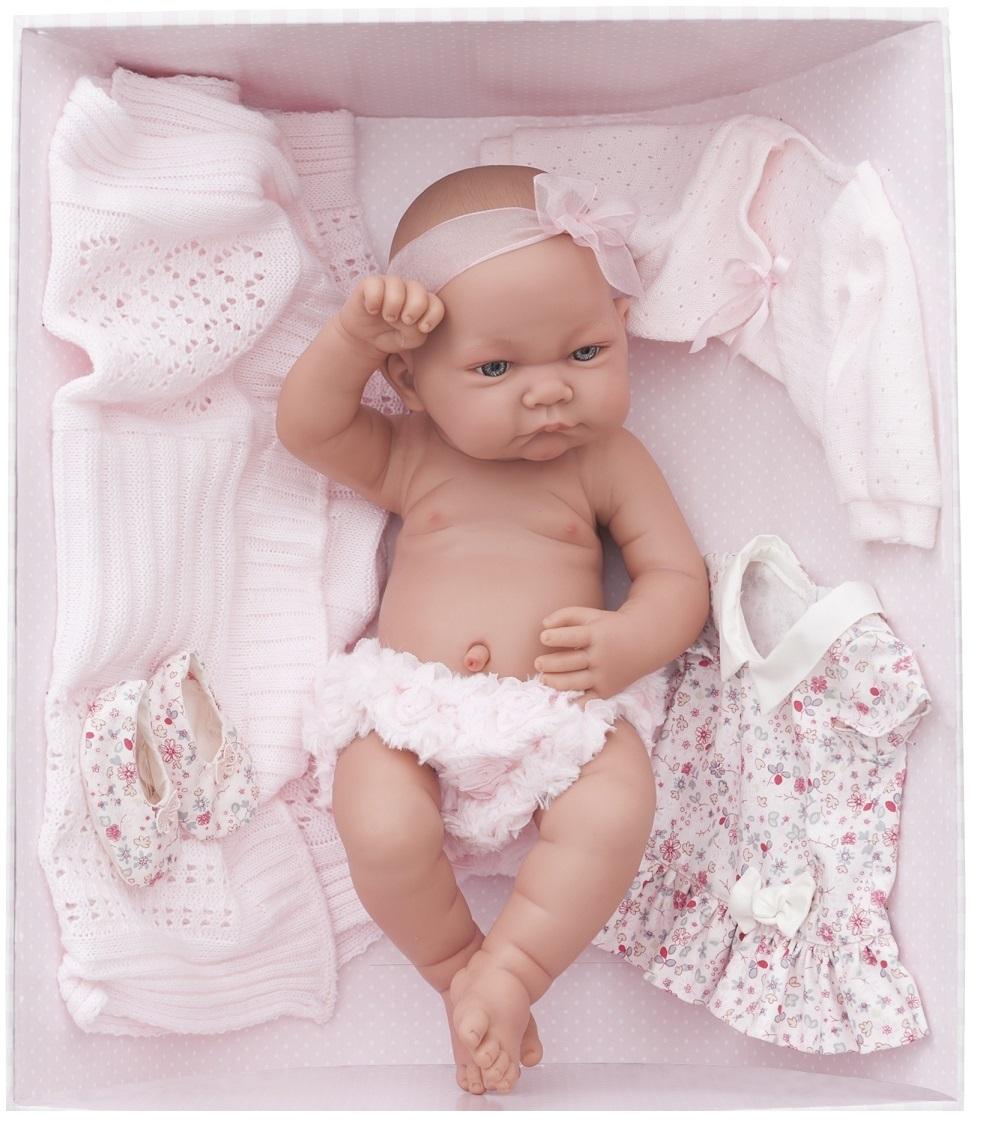 Кукла - младенец Эльза в розовом, 42 см.