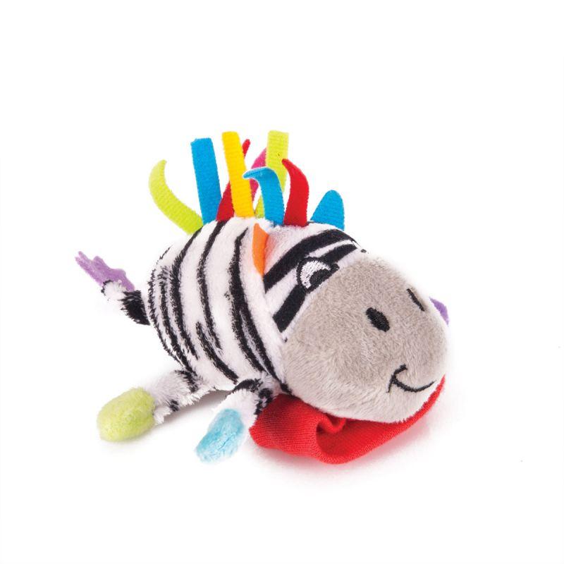 Купить Игрушка-погремушка на ручку - Зебра Фру-Фру, Happy Snail