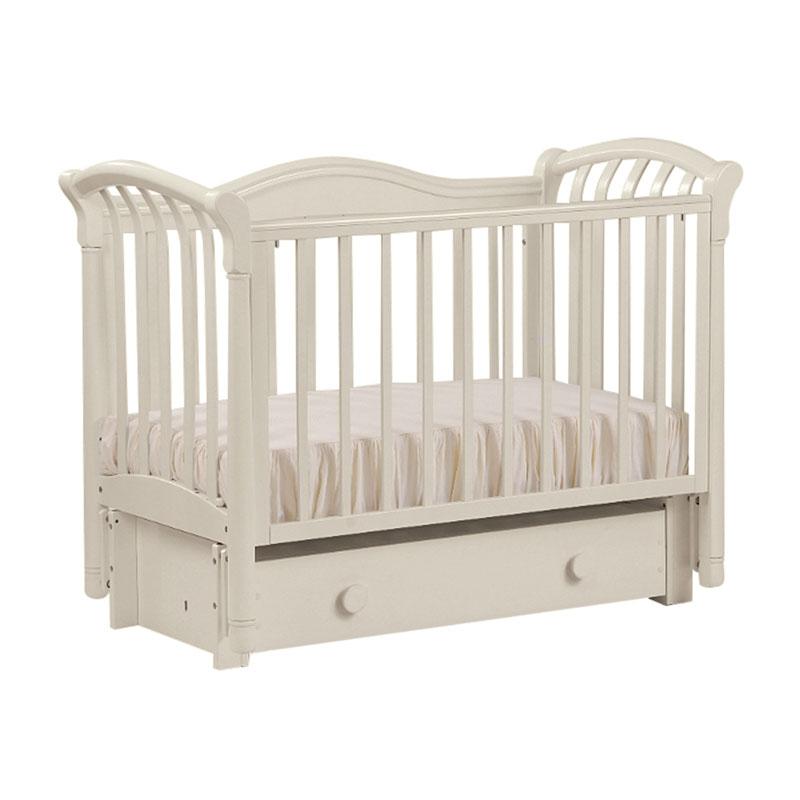 Кровать детская БИ 10.3 Азалия маятник продольный, отбеленный Лель