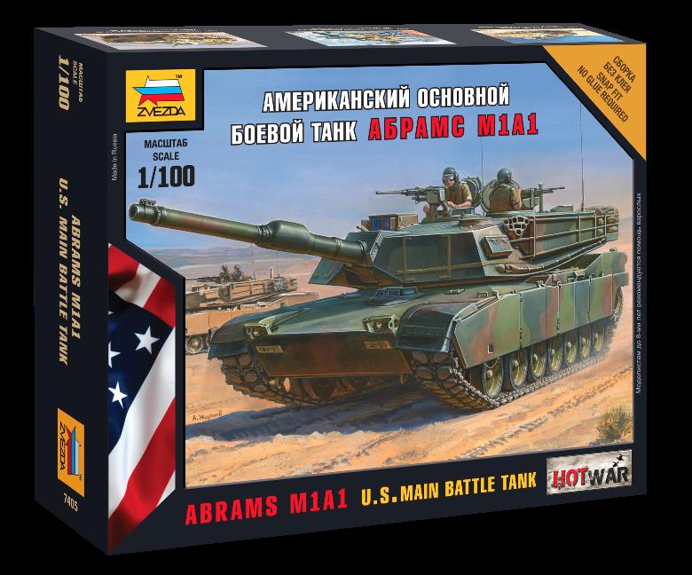 Модель сборная - Американский танк Абрамс М1А1Модели танков для склеивания<br>Модель сборная - Американский танк Абрамс М1А1<br>