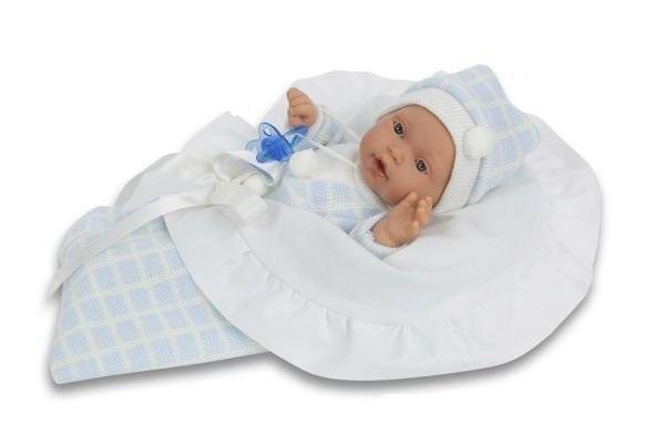 Кукла -младенец Бланка в голубом, умеет плакать, 27 см.Куклы Антонио Хуан (Antonio Juan Munecas)<br>Кукла -младенец Бланка в голубом, умеет плакать, 27 см.<br>