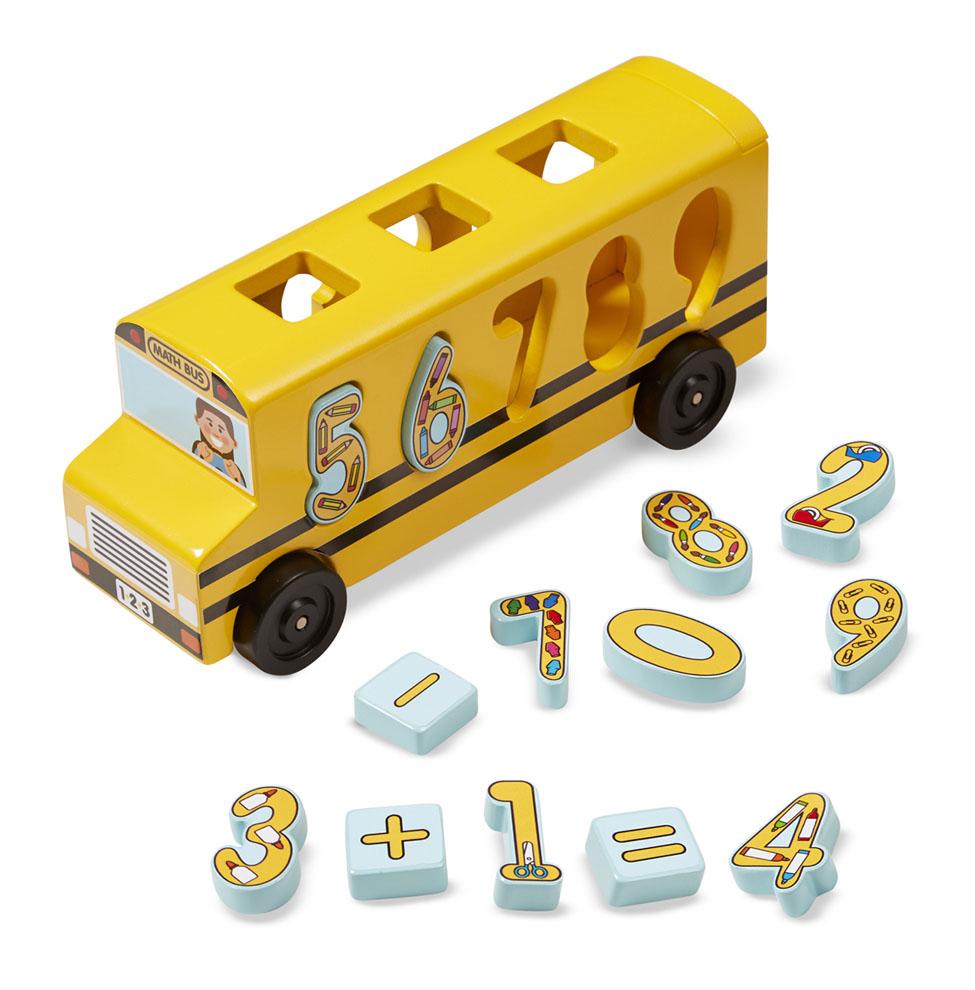 Деревянный автобус сортировщик - цифрыСтучалки и сортеры<br>Деревянный автобус сортировщик - цифры<br>