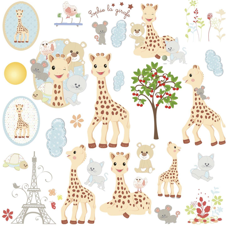 Наклейки для декора - Жираф Софи